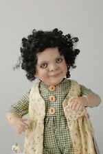 """Buttons"" Doll by Cottage Collectible - Ganz African American Artist Design15"""