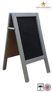 GREY - A BOARD - PAVEMENT BOARD - CHALKBOARD - PAVEMENT SIGN