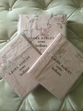 BNIP Laura Ashley Oriental Embroidered Blossom King Size Duvet & Pillowcases