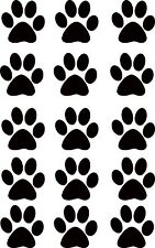 Set of  40 Black  Paw Print Vinyl Decal Stickers, Ideal for walls,Cars,Fridges,
