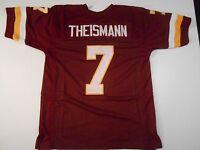 UNSIGNED CUSTOM Sewn Stitched Joe Theismann Burgundy Jersey - M, L, XL, 2XL