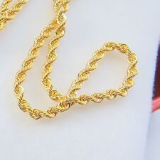 Real 18K Yellow Gold Necklace Rope Link Chain Necklace 5.88g 18INCH Au750
