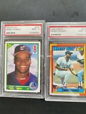 New listing Lot of 2 PSA 9 Mint Frank Thomas Rookie Cards: Score/ Topps