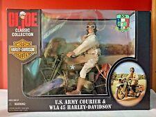 GI JOE Harley Davidson Classic 35th Anniv. US Army Courier Motorcycle Figure MIB