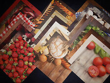 12x12 Scrapbook Paper Food Foodie Colorbok Gourmet Chef Cooking Kitchen 25 Lot
