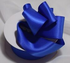 """Royal Blue Double Faced Satin Ribbon 1 1/2"""" wide priced for each 3 continuous yd"""