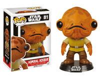 Star Wars VII Almirante Ackbar Pop! Figura 9 cm Funko