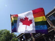 Canada Rainbow Flag 3x5 feet Canadian Gay Pride LGBT GLBT Otawa Montreal Toronto
