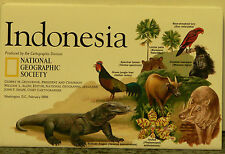 1996 National Geographic Map of Indonesia
