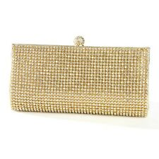 FORMAL WEDDING GOLD EVENING BAG / CLUTCH / BAG WITH BEZEL SET CRYSTALS-OCCASIONS