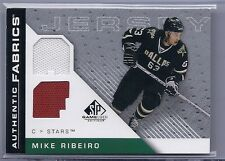 2007-08 UPPER DECK SP GAME USED MIKE RIBEIRO UD AUTHENTIC FABRICS JERSEY STARS