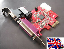 RS232 16C950 + Parallel PCIe PCI Express Serial w/Power