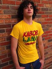 KABOB LAND Atlanta Restaurant Yellow Cotton Blend Size S T-Shirt