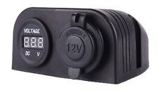 12-24V Car Dual USB Car Charger + Car LED Display Voltmeter
