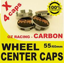 tapas llantas  ruedas OZ RACING CARBONO NEGRO2 wheel center caps 55mm 60mm 4x