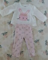 GUC! Baby girl Chick pea bunny print outfit 3-6 Months