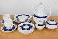 Thomas Porzellan Kaffee Service Arcta Blau Konvolut Richard Scharrer 16teilig