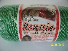 2 Bonnie Craft Cord New Red Green 4 Mm 100 Yards Bulky Colorfast Heat Fusible