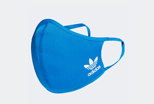 Adidas Blue Face Mask Cover Reusable Brand New (M/L)