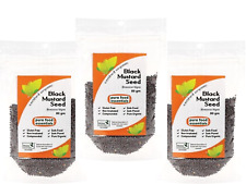 3 x 80g PURE FOOD ESSENTIALS Spices Certified Organic Black Mustard Seed (240g )