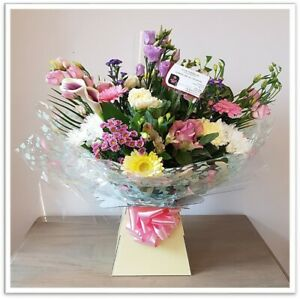 FRESH REAL FLOWERS  Delivered Pastel Selection Bouquet includes Free Delivery