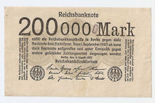 GERMANY 200 000  mark 1923