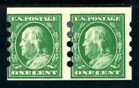 USAstamps Unused FVF US 1910 Mail-O-Meter 3mm Spacing Pair Scott 383 OG MHR