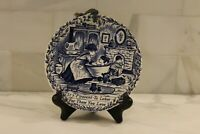Royal Crownford Staffordshire~Blue & White Wall Plate~ Mother Love~ EUC