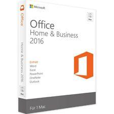 Microsoft Office 2016 Home & Business für Mac / Vollversion / Lizenz Key