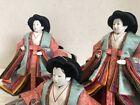 Y3157 HINA DOLL Three Court Ladies figure figurine Japanese antique vintage