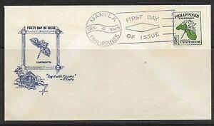 1948 Philippines FDC National Flower ~ Sampaguita issue #530