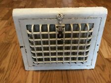 Antique White Wall 8 x 10 Furnace Cast Iron Hot Air Register Grate Adjustable