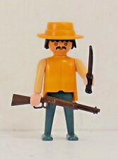 Playmobil Vintage Western PERSON W/ HAT / RIFLE / KNIFE RANCH FORT BRAVO PARTS