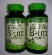 (TWO PACK) Nature's Truth High Potency Balanced B-100 B-complex, 60 Count