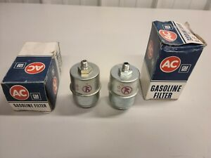 LOT OF 2 GENUINE NOS AC FUEL FILTER GF71  1960-1963 LINCOLN EDSEL FORD MERCURY