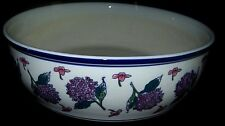 Elegant vintage blue and white Centerpiece Bowl  large and heavy made in China