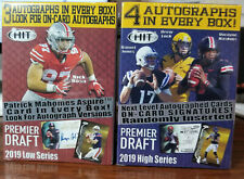 2019 Sage Hit Football Low/High Factory Sealed Boxsets=7 auto's/160 total cards