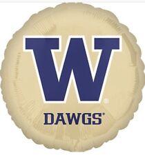 Five Washington State Huskies Round W Dawgs Mylar Balloons New