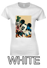Disney Mickey Mouse Goofy Donald Duck Print T-shirt Men Women Unisex V70