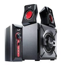 GENIUS 2.1 PC /LAPTOP / TV GAMING SPEAKERS SURROUND SOUND SUBWOOFER SW-G2.1 1250