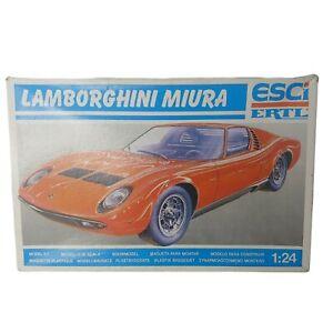 ESCi ERTL Lamborghini Miura Model Kit 1:24 Scale Red Plastic Car Open Box Damage