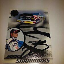 Jimmie Johnson Autograph Rookie Raced Used Tire 2003 Press Pass Eclipse Skidmark