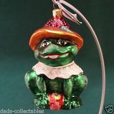 """Retired Vintage Radko 5.5"""" Lillie Mae Frog Christmas Ornament 97-228 Box & Tag"""