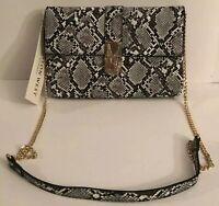 New MADISON WEST Los Angeles Crossbody Envelope Women's Handbag  SNAKE PRINT