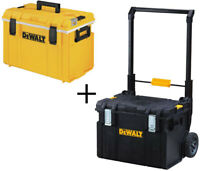 Dewalt Large Rolling Toolbox on Wheels W/ ToughSystem 5 Day COOLER Storage Chest