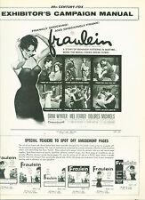 Fräulein (1958)  Dana Wynter, Mel Ferrer, Dolores Michaels  Pressbook
