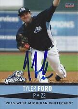 Tyler Ford 2015 West Michigan Whitecaps Signed Card