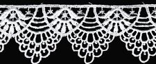 "Venise lace trim 2 1/2""  Edge Rayon Guipure Ivory Craft Doll $ 4-1/2 yds! #1337"