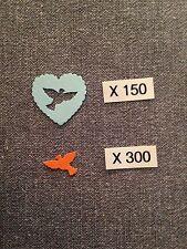 CONFETTIS Papier X 450 Mariage COEURS BLEU & COLOMBES ORANGE Déco Table AUT21OR