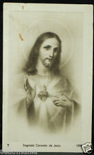 OLD BLESSED SACRED HEART OF JESUS HOLY CARD ANDACHTSBILD SANTINI ESTAMPA   CC820